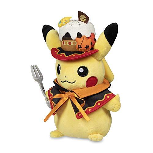 Pokémon Center: Eerie Delights Cake Pikachu Poké Plush, 9.25 Inch (Pokemon Center Hat)