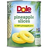 Dole Pineapple Slices in 100% Pineapple Juice 20 oz. Can - 12 Pack