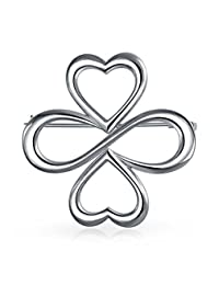 Bling Jewelry AYLLU Hearts R One 925 Silver Brooch Pin