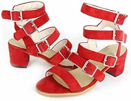 9840e229410c Memela Clearance sale Women Sandals Summer Shoe Open-Toe Multi-Strap Heeled  Sandals Low