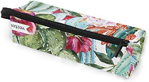 Estuche para gafas de sol con diseño de acuarela con flores y cactus, estuche portátil comprimido, caja suave para mujeres y niñas, con cremallera, bolsa de almacenamiento: Amazon.es: Oficina y papelería