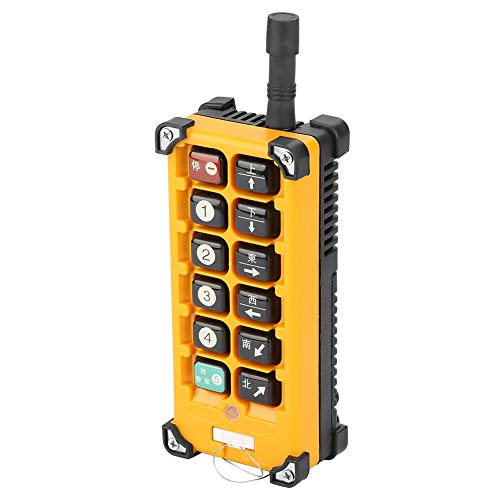 Crane Chain Hoist Push Button Switch 1 Transmitters + 1 Receiver Hoist Crane Wireless Remote Controller 12 Buttons by Wal front (Image #7)