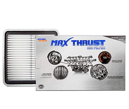 Spearhead Max Thrust Performance Engine Air Filter For All Mileage Vehicles – Increases Power & Improves Acceleration…