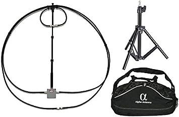 Alpha antena 10 – 80 M Alpha Loop + trípode y bolsa: Amazon ...