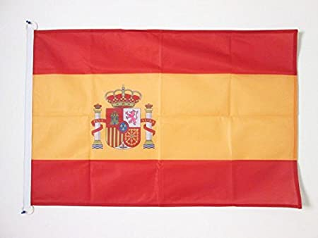 AZ FLAG Bandera de ESPAÑA 90x60cm Uso Exterior - Bandera ESPAÑOLA 60 x 90 cm Anillos: Amazon.es: Hogar
