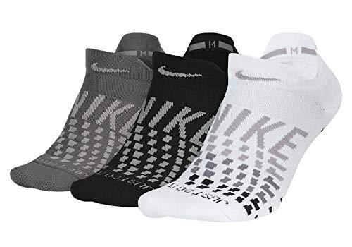 Nike Women's Everyday Max Cushion No-Show Training Socks (Multi-Color3, M) (Socks Womens Nike)