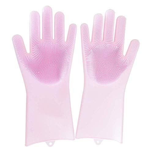 AuLink Latex Cleaning Gloves, Silicone Heat Resistant Large Cleaning Gloves...