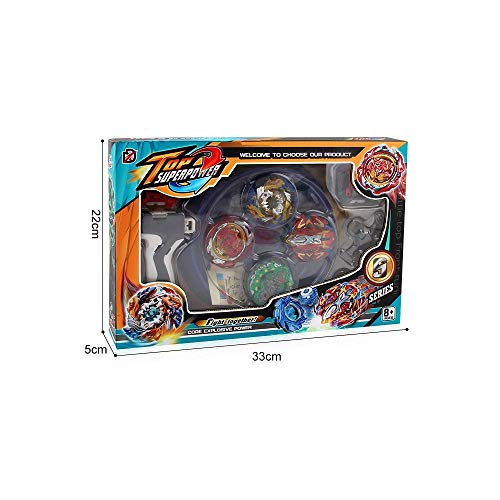 Dey-Tey Burst Battle Evolution Attack Gyro Set with Two 4D Launcher Grip Starter and Stadium(4 in 1) by Dey-Tey (Image #7)