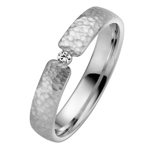 Liebe² - 04004811253150 - Alliance Femme - Or Blanc 333/1000 (8 Cts)  - Diamant