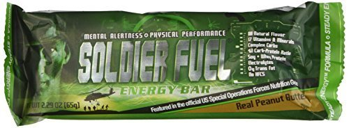 soldier fuel energy bars real peanut butter box of 15 by soldier