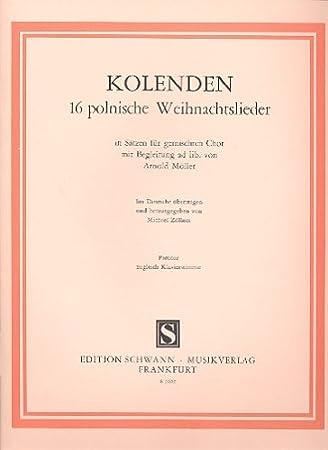 Polnische Weihnachtslieder Texte.Kolenden 16 Polnische Weihnachtslieder In Sätzen Für Gem Arnold