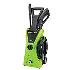 This electric pressure washer delivers up to 1750 PSI to power-clean walls, yard equipment, and vehicles. Lightweight and portable, this pressure washer features a pressure hose over 20 ft. long along with 4 in. diameter wheels for easy mobil...