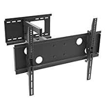 """DURAMEX (TM) 32""""-70"""" LCD TV Wall Mount Bracket with Full Motion Swing Out Tilt & Swivel Articulating Arm for Flat Screen Flat Panel LED TV and Monitor Display, SINGLE ARM"""