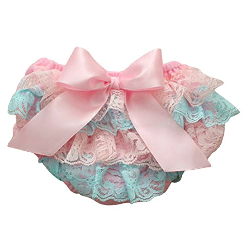 Lace Satin Bloomers - MIOIM Adorable Baby Girls Lace Satin Bloomers Ruffle Tutu Diaper Cover Short Panties