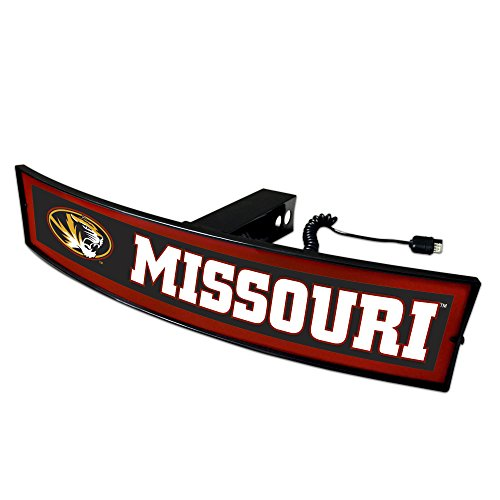 Fanmats NCAA Missouri Tigers 20062 Light Up Hitch Cover, One Size, Team Colors by Fanmats