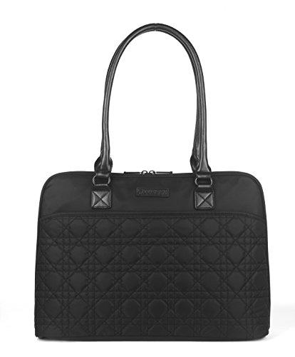 CoolBell 15.6 Inch Laptop Tote Bag Women Handbag Nylon Briefcase Classic Shoulder Bag For Laptop / Ultra-book / Macbook / Tablet / (Black)
