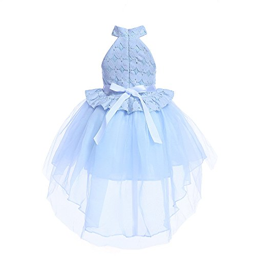 OTINICE-Baby Girls' Sleeveless Flower Bowknot Lace Princess Party Dress Fluffy ()