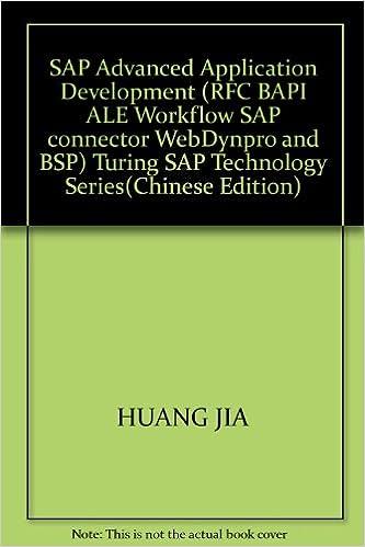 SAP Advanced Application Development (RFC BAPI ALE Workflow