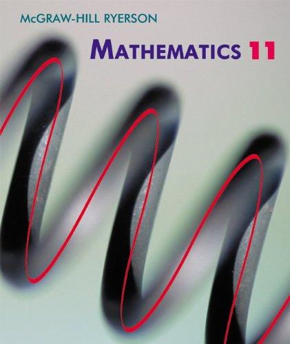 Mcgraw Hill Ryerson Mathematics 11 Knill George 9780075529101 Amazon Com Books