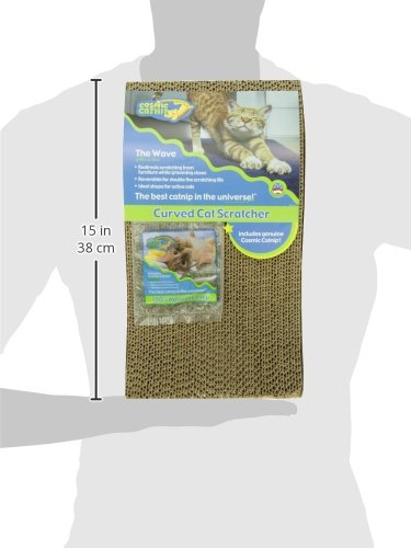 Ourpets the wave curved catnip cat scratcher the amused cat for Curved cat scratcher