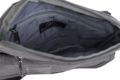 Umgehängt herren GIANMARCO VENTURI grau bandolier Taschen Kleine platt VF114