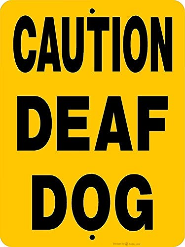 Warning Wall Home Decor-Caution Deaf Dog.8x12 Inch Metal Tin Sign Vintage Signs Aluminum Plates Printed Warning Notice Iron Road Forest Farm Poster Plaque Art Bar Club Store Garage Personalized Chic from ifidex Jackgold