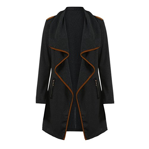 Goddessvan Womens Knitted Coat Open Front Long Sleeve Tops Cardigan Jacket Outwear with Pocket Plus Size