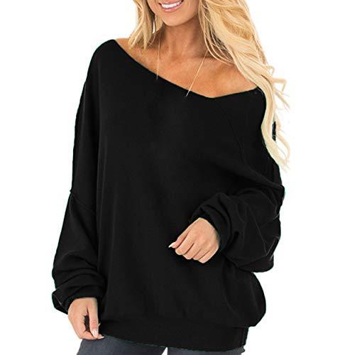 paule JackenLOVE Shirts Hauts et Sweat Oblique Tops Pulls Jumpers Printemps Pullover Femmes Automne Longues Noir Blouse Manches Fashion Casual PRS5RnarW