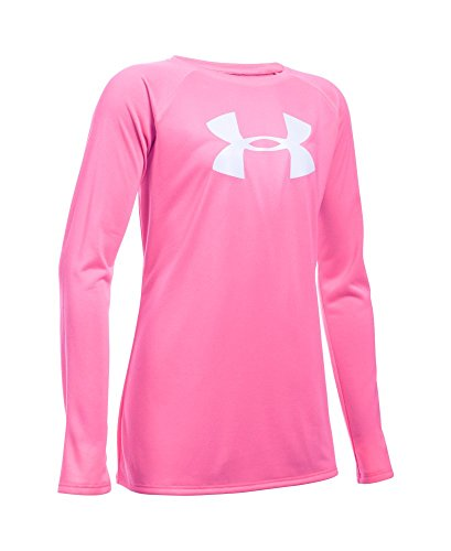 Under Armour Girls' UA Big Logo Long Sleeve T-Shirt Medium / 10-12 Big Kids PINK PUNK