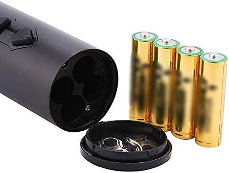 YFGQBCP Eléctrica de Vino abridor automático inalámbrico de un Toque de Vino abridor Que Funcionan con baterías Sacacorchos Foil Cutter y Pilas Incluidas