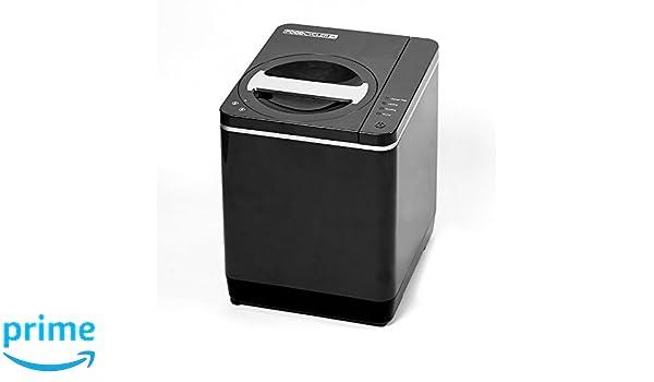 Reciclador de alimentos y contenedor de abono de cocina para uso en interior de platino, fácil de usar y respetuoso con el medio ambiente, con enchufe G: ...