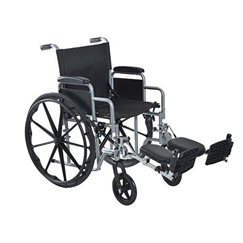 HomCom Foldable Lightweight Manual Wheelchair - Black/Silver