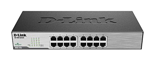10 Port Router (D-Link 16-Port 10/100 Unmanaged Desktop Switch, Fanless Rackmount (DSS-16+/RE) (Certified Refurbished))