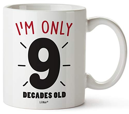 90th Birthday Gifts For Women Eighty Years Old Men Gift Mugs Happy Funny 90 Mens Womens Womans Wifes Female Man Best Friend 1929 Male Mug Unique Ideas 29 Woman Wife Gag Dad Girls Guys Good Husband