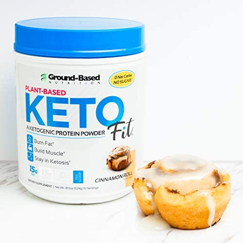 Ground Based Nutrition, Protein Powder Ketogenic Plant Based Cinnamon Roll, 18.5 Ounce 10