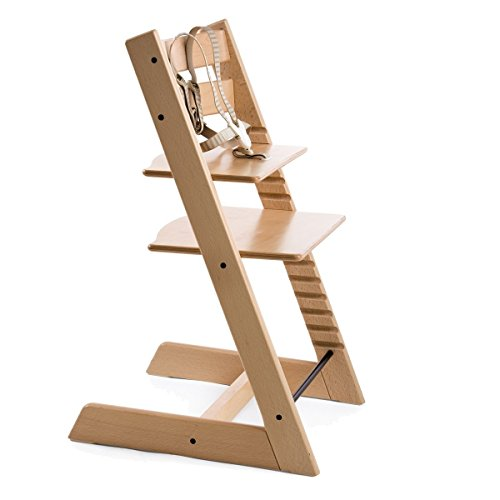 Stokke Classic Tripp Trapp Highchair NATURAL Wood High Chair BRAND (Stokke Footmuff)