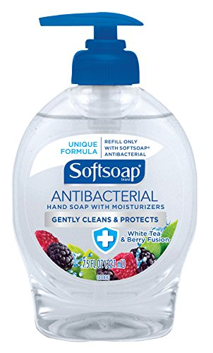 Softsoap Antibacterial Liquid Hand Soap, White Tea and Berry Fusion - 7.5 fluid ounce (7.5 Fusion)