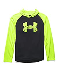 Under Armour Boys' Tech Hoodie, Black (001), Youth X-Small