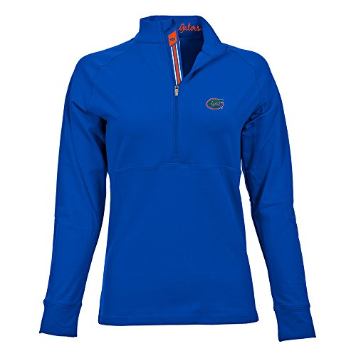 Banner Raglan (Levelwear LEY9R NCAA Florida Gators Adult Women Harmony Banner Stripe Half Zip Mid-Layer, Medium, Royal Blue)