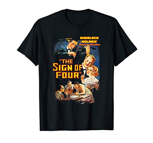 Sherlock Holmes British Consulting Detective Vintage Poster T-Shirt]()