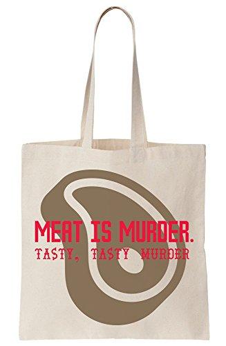 Is Tote Meat Tasty Murder Canvas Steak Bag zqFZ1dw