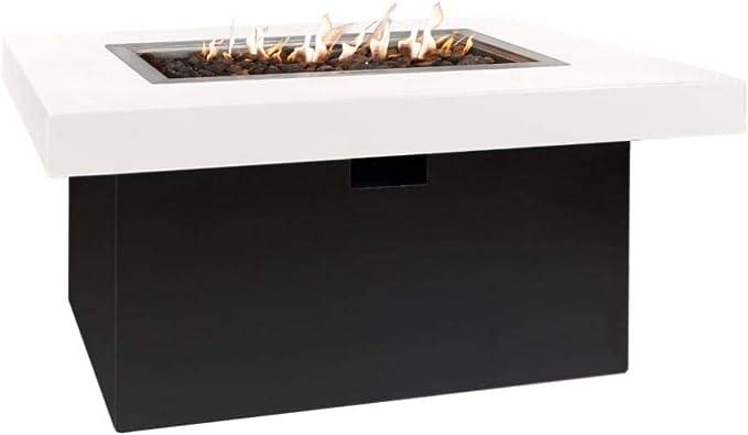 Easyfires Milano - Mesa de fuego rectangular (120 x 80 x 55 ...