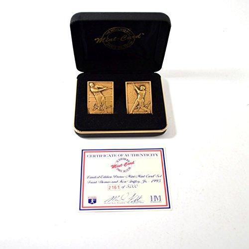 (Highland Mint Ken Griffey Jr./Frank Thomas Bronze Mini Card Set # out of 5,000)