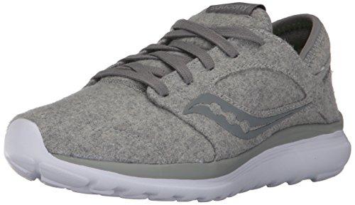 Price comparison product image Saucony Women's Kineta Relay Wool Sneaker, Grey, 8.5 Medium US