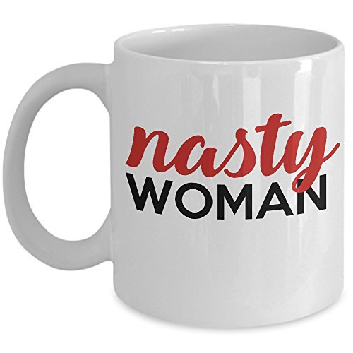 MuggieTreasures Nasty Woman Ceramic Coffee Mug, 11 oz.