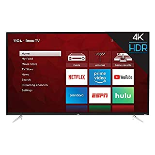 TCL 50S423 50inch 4K UHD HDR Roku Smart LED TV (Renewed)