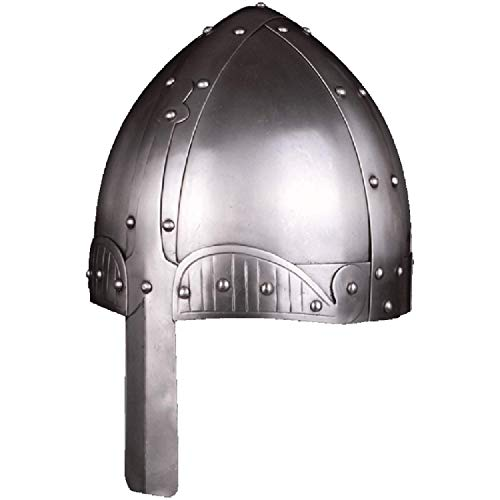 Medieval Norman, Warrior Nasal, Helmet One Size Fits Most Chrome, Silver