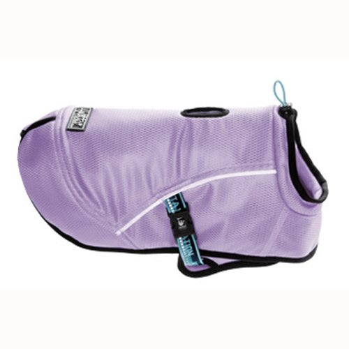 Hurtta Pet Collection Cooling Coat, 14-Inch Length, 16-Inch Neck, 20-28-Inch Chest, Lilac, My Pet Supplies