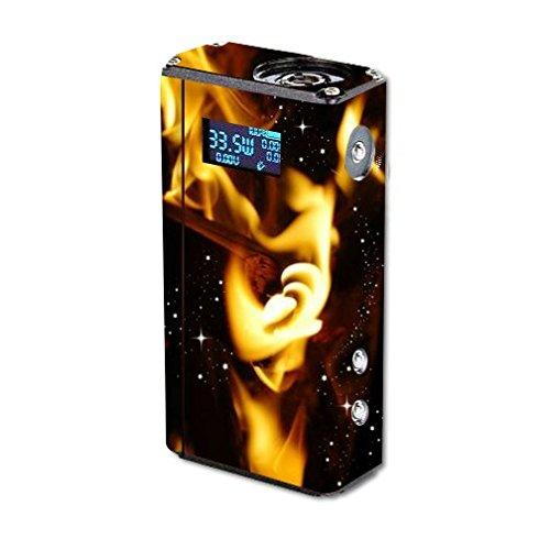 Lotus Jellyfish Vape E-Cig Mod Box Vinyl DECAL STICKER Skin Wrap / Cosmic wood fire Galaxy Space Nebula Printed Design