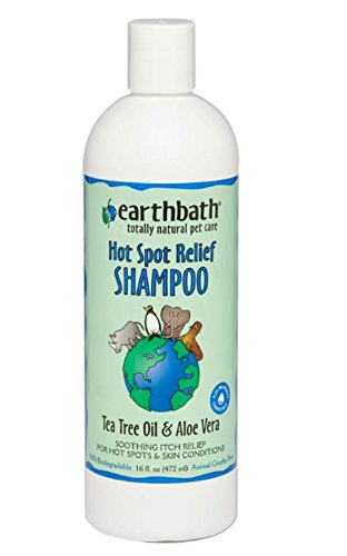 EarthBath Hot Spot Relief Shampoo Tea Tree Oil & Aloe Vera 16 fl. Oz.